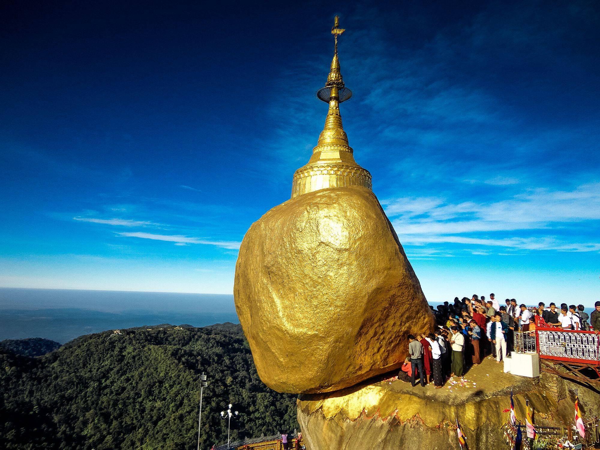 Golden+Myanmar Kyaiktiyo Pagoda in Myanmar - Travelling Moods