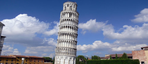 Amazing leaning tower of pisa