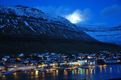 Faroe Islands at night