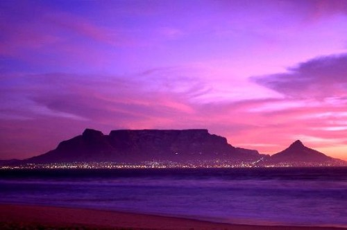 table-mountain at evening